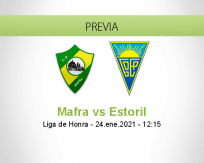 Pronóstico Mafra Estoril (24 enero 2021)
