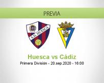 Pronóstico Huesca Cádiz (20 septiembre 2020)