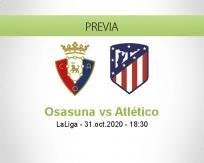 Pronóstico Osasuna Atlético Madrid (31 octubre 2020)