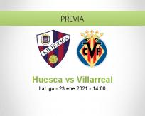 Pronóstico Huesca Villarreal (23 enero 2021)