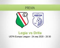 Pronóstico Legia Warszawa Drita (24 septiembre 2020)
