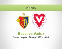 Pronóstico Basel Vaduz (20 septiembre 2020)