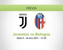 Pronóstico Juventus Bologna (24 enero 2021)