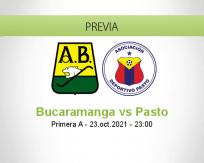 Pronóstico Bucaramanga Pasto (23 octubre 2021)