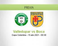 Pronóstico Valledupar Boca (14 abril 2021)