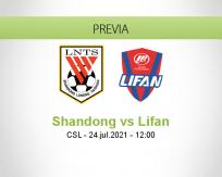 Pronóstico Shandong Lifan (24 julio 2021)