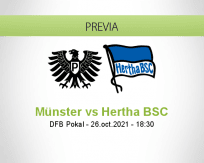 Pronóstico Münster Hertha BSC (26 octubre 2021)