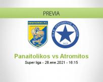 Pronóstico Panaitolikos Atromitos (28 enero 2021)