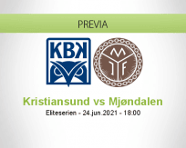Pronóstico Kristiansund Mjøndalen (24 junio 2021)
