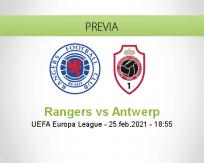 Pronóstico Rangers Antwerp (25 febrero 2021)