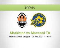 Pronóstico Shakhtar Maccabi TA (25 febrero 2021)
