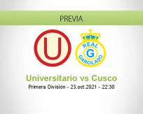 Pronóstico Universitario Cusco (23 octubre 2021)