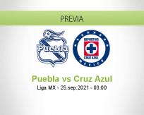 Pronóstico Puebla Cruz Azul (24 septiembre 2021)