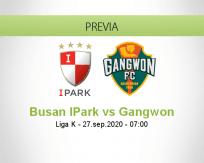Pronóstico Busan IPark Gangwon (27 septiembre 2020)