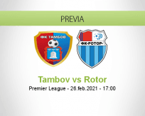 Pronóstico Tambov Rotor (26 febrero 2021)