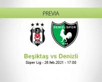 Pronóstico Beşiktaş Denizli (26 febrero 2021)