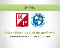 Pronóstico River Plate Sol de América (23 octubre 2021)