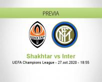 Pronóstico Shakhtar Donetsk Internazionale (27 octubre 2020)