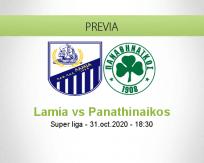Pronóstico Lamia Panathinaikos (31 octubre 2020)