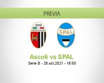 Pronóstico Ascoli SPAL (28 octubre 2021)