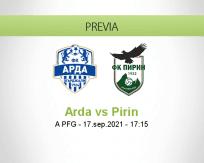 Pronóstico Arda Pirin (17 septiembre 2021)