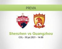 Pronóstico Shenzhen Guangzhou (30 julio 2021)