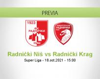 Pronóstico Radnički Niš Radnički Krag (18 octubre 2021)