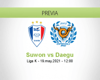 Pronóstico Suwon Daegu (19 mayo 2021)