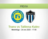 Pronóstico Trans Tallinna Kalev (24 noviembre 2020)