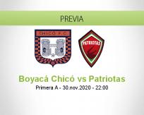 Boyacá Chicó vs Patriotas