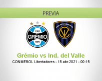 Pronóstico Grêmio Ind. del Valle (14 abril 2021)