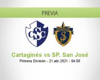 Pronóstico Cartaginés SP. San José (20 abril 2021)