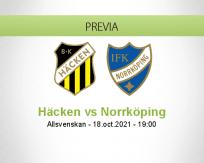 Pronóstico Häcken Norrköping (18 octubre 2021)