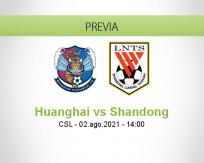 Pronóstico Huanghai Shandong (02 agosto 2021)