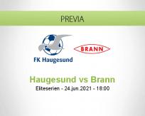 Pronóstico Haugesund Brann (24 junio 2021)