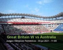 Pronóstico Great Britain W Australia (30 julio 2021)