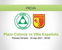 Plaza Colonia vs Villa Española