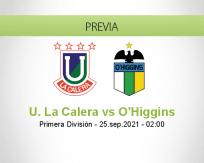 Pronóstico U. La Calera O'Higgins (24 septiembre 2021)