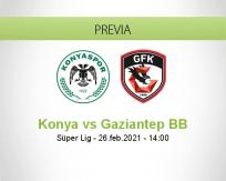 Pronóstico Konya Gaziantep BB (26 febrero 2021)