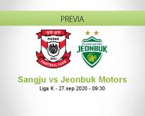Pronóstico Sangju Sangmu Jeonbuk Motors (27 septiembre 2020)
