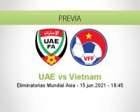 Pronóstico UAE Vietnam (15 junio 2021)