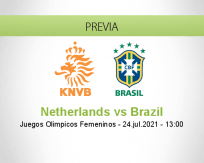Pronóstico Netherlands Brazil (24 julio 2021)