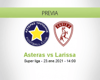 Pronóstico Asteras Larissa (23 enero 2021)