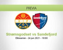 Pronóstico Strømsgodset Sandefjord (24 junio 2021)