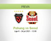 Pronóstico Pohang Seoul (24 julio 2021)