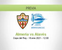 Pronóstico Almería Alavés (16 enero 2021)