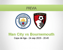 Pronóstico Manchester City AFC Bournemouth (24 septiembre 2020)