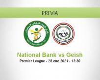 Pronóstico National Bank Geish (28 enero 2021)
