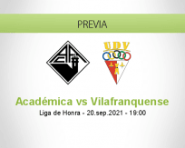 Pronóstico Académica Vilafranquense (20 septiembre 2021)