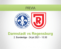 Pronóstico Darmstadt Regensburg (24 julio 2021)